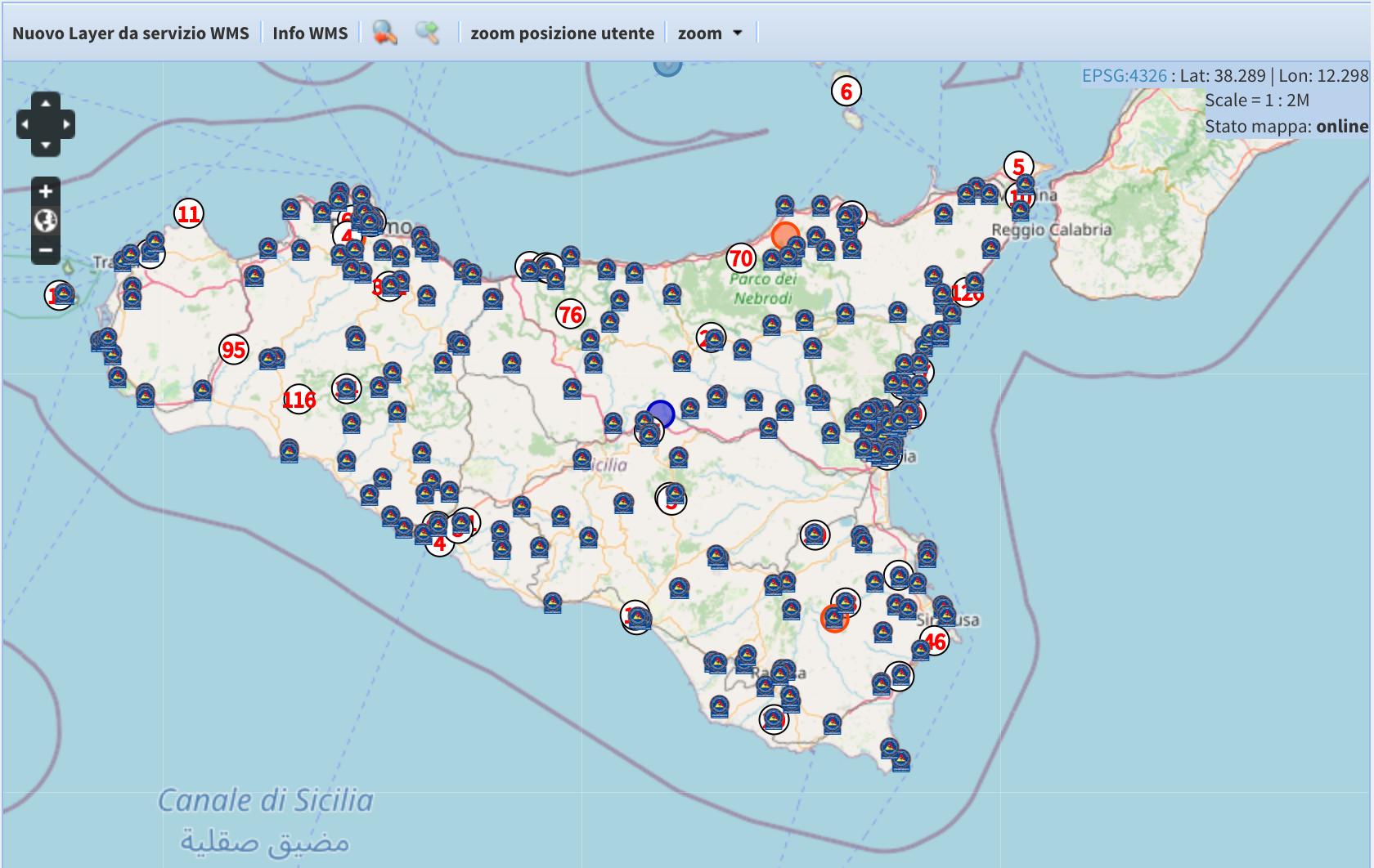 EMERGENZA INCENDI. Sono 31 i fronti di fuoco attivi in questo momento in Sicilia. 350 volontari impegnati.