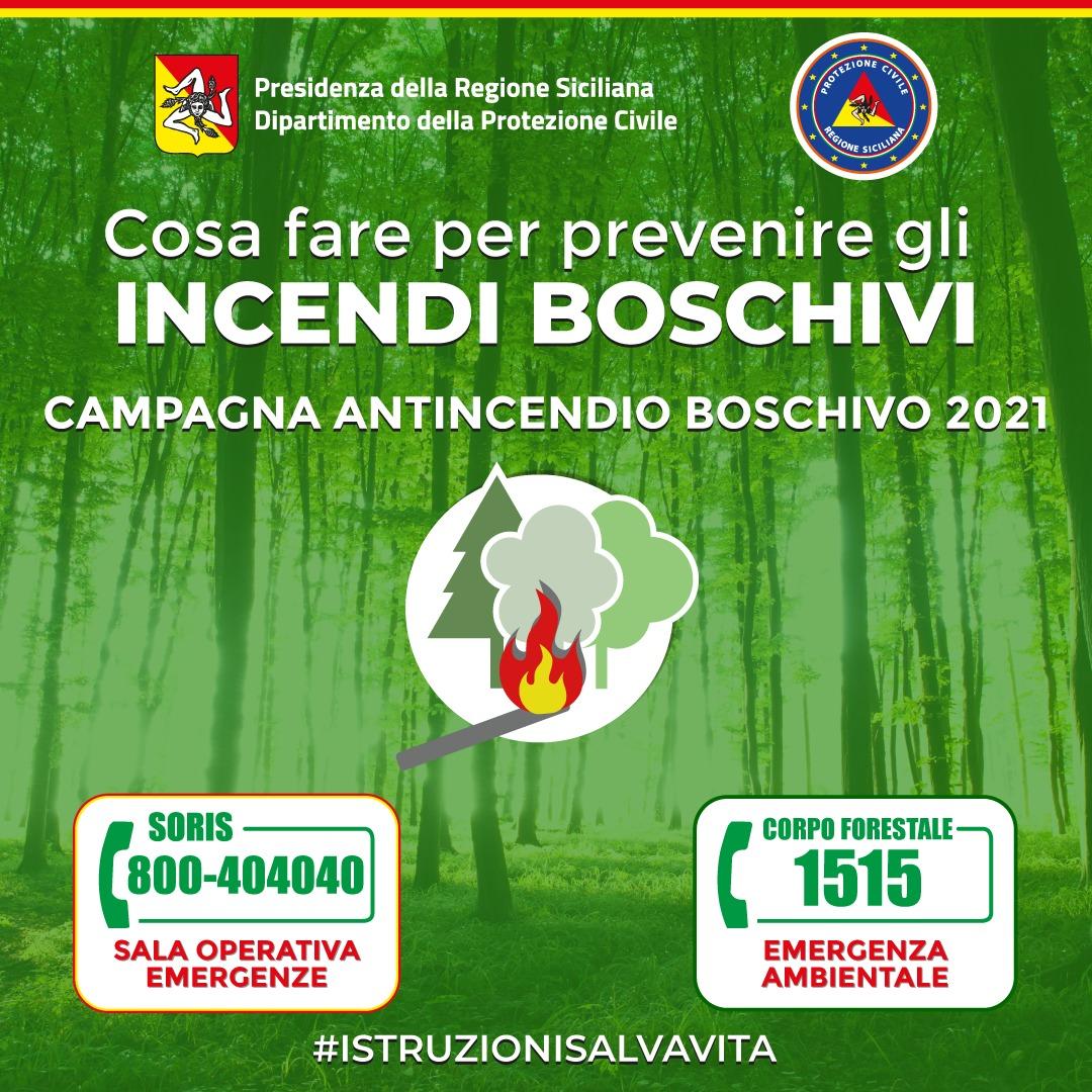 Campagna di Comunicazione Antincendio Boschivo. Consigli, regole e i numeri da chiamare (1515 e 800404040) per  salvare  alberi e vite umane