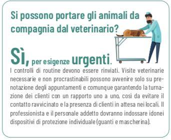 Circolare n. 10: cura degli animali, consegne a domicilio, trasporto mezzi navali. Tutti i chiarimenti