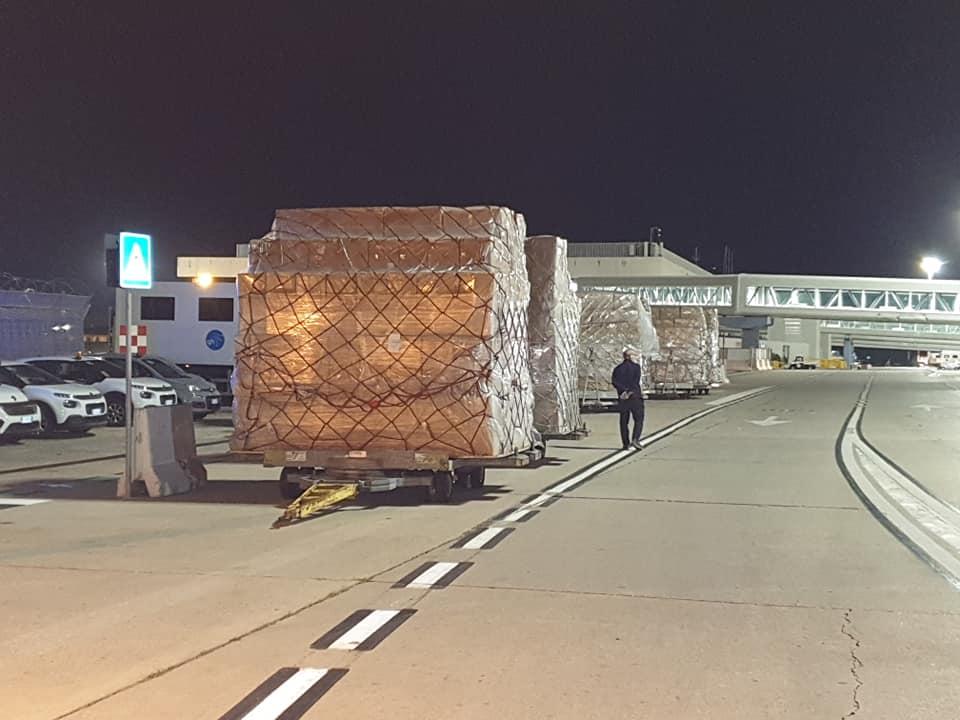 COVID 19 - Nuovo cargo dalla Cina: arrivati a Palermo DPI, ventilatori polmonari e materiale tecnologico